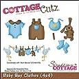 """Die CottageCutz 4 """"X 4""""-Baby Boy vestiti"""
