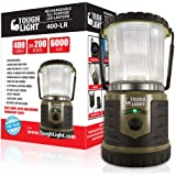 Tough Light LED Rechargeable Lantern - 200 Hours of Light from a Single Charge, Longest Lasting on Amazon! Camping and Emerge