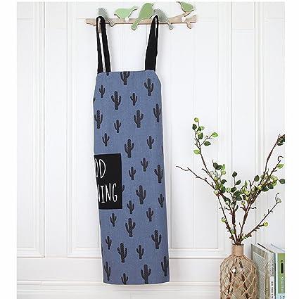 znvmi algodón delantal con bolsillo frontal Cactus patrón delantal para cocineros carnicerías barbacoa Craft para mujeres