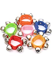 Ferbixo New 5Pcs Baby Infant Kids Wrist Hand Foot Bell Rattle Crib Pram Activity Toy Bell Toys Educational Dancing Accessories (Random Color)