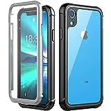 iPhone XRケースVapesoon 6.1インチ 耐衝撃 防塵 超薄型 軽量 傷·落下衝撃吸収 レンズ保護 操作便利 脱着簡単 [米軍MIL規格](ブラック)