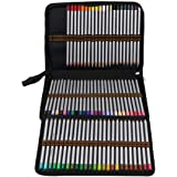 Allnice 72 Colored Pencil Case Holder 3-Layer Artist Pencil Bag with Zipper for Watercolor Pens, Crayon, Color Gel Pen (Pencils NOT Included) (Black)