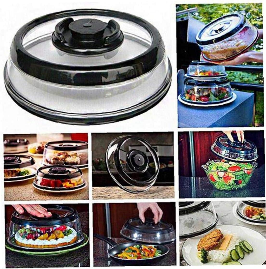 Zonfer Vakuum Frisch Sealer Luftdicht-nahrungsmittelbeh/älter-Platte Platter Teller Abdeckung K/üche Sofort Werkzeuge