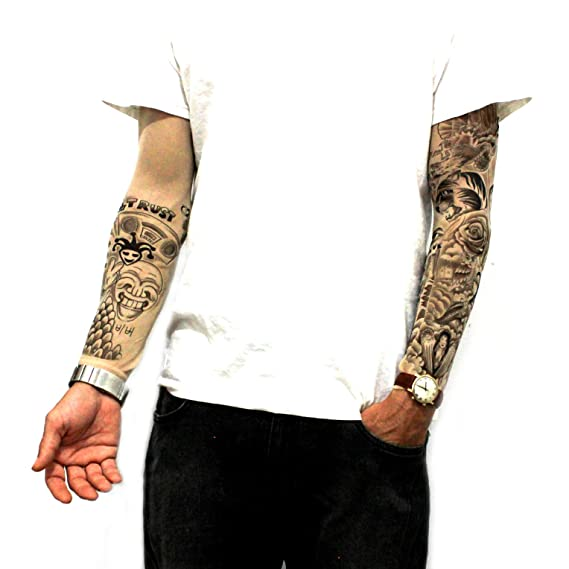 f2ef24c97 Amazon.com: Justin Bieber Inspired Tattoo Sleeves: Toys & Games