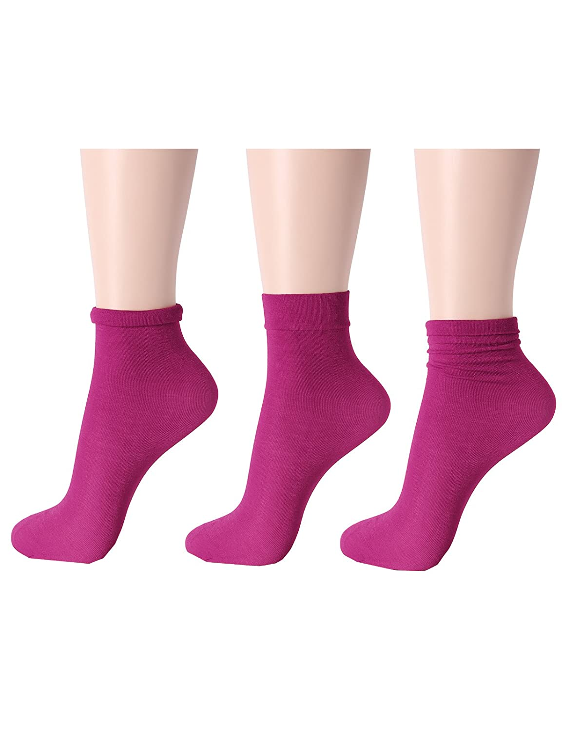 OSABASA Women 5or 10 Pairs Color Nylon Ankle High Tights Hosiery Socks