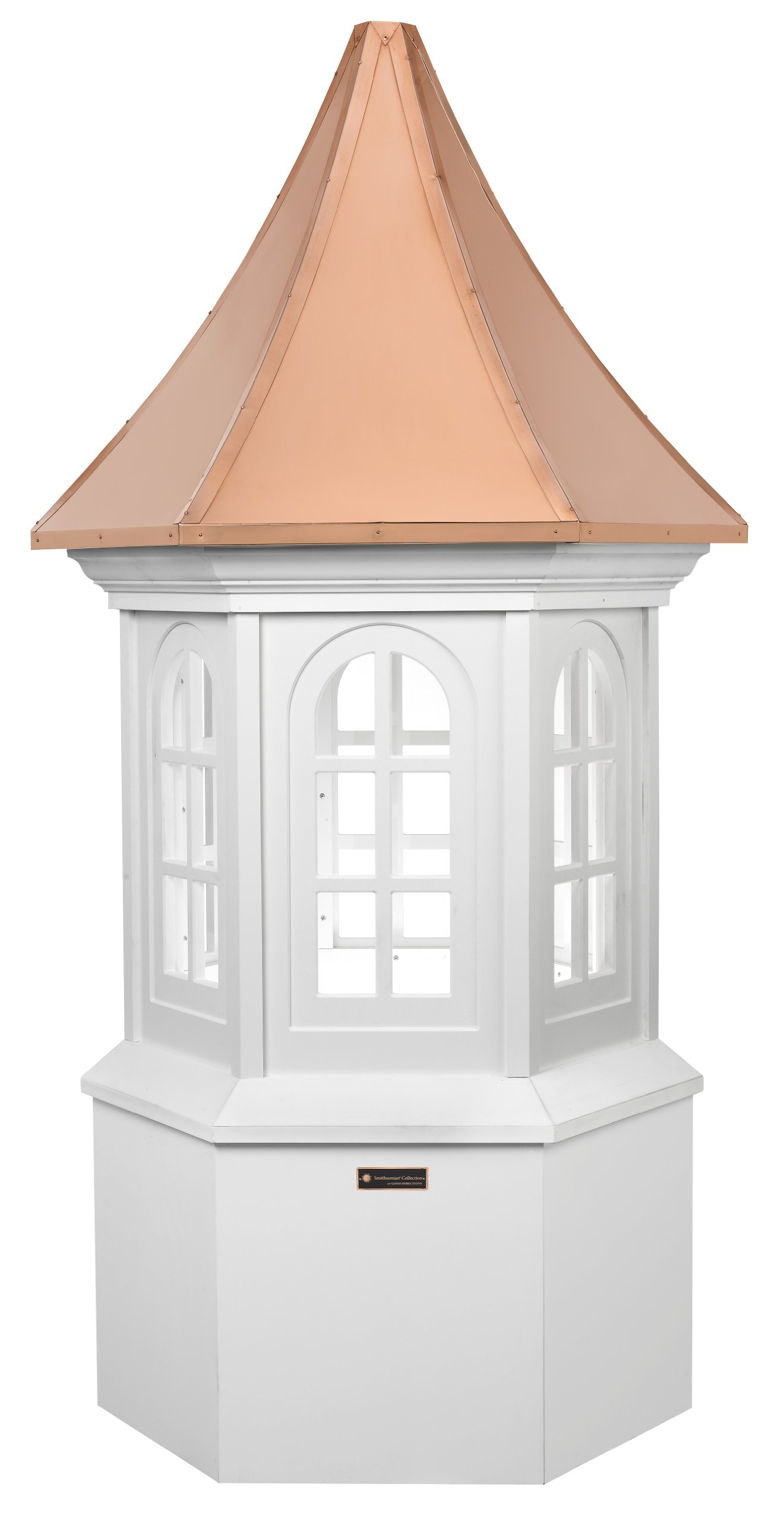 Good Directions Smithsonian Georgetown Vinyl Cupola with Copper Roof, 36'' x 89''