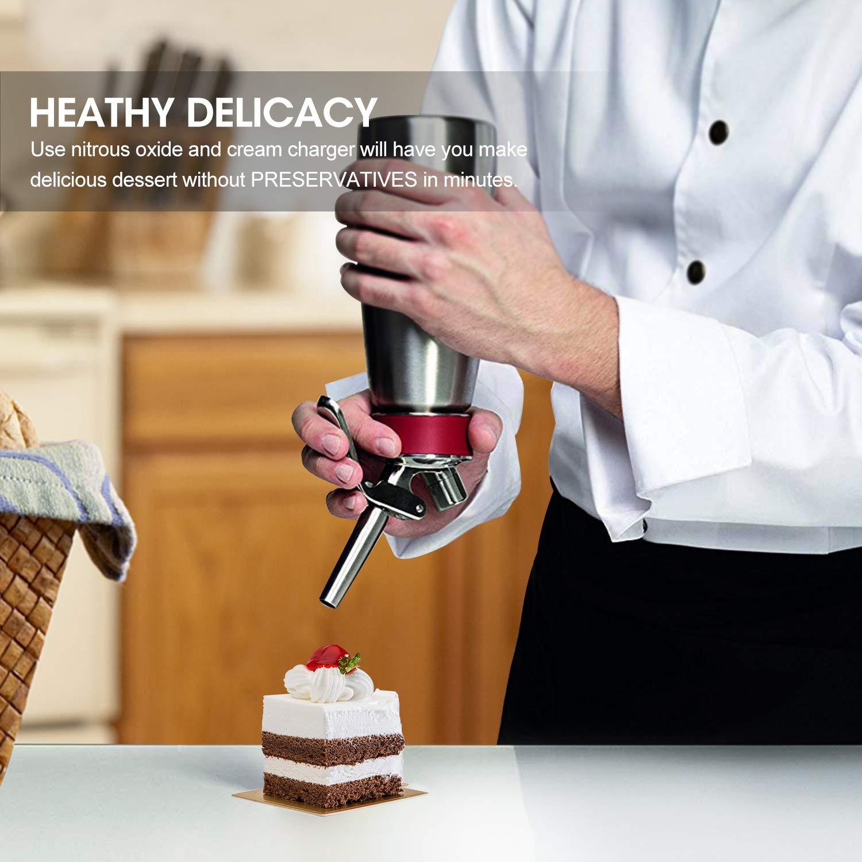 Foma Gas Pure Food Grade whipped cream chargers N2O Whip Cream Chargers, Pack of 288 by Foma Gas (Image #5)