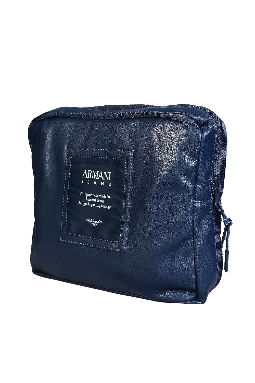 9b856e3e6f3 Armani Jeans Navy Blue PU Backpack 932063 7A937 One Size  Amazon.co.uk   Clothing