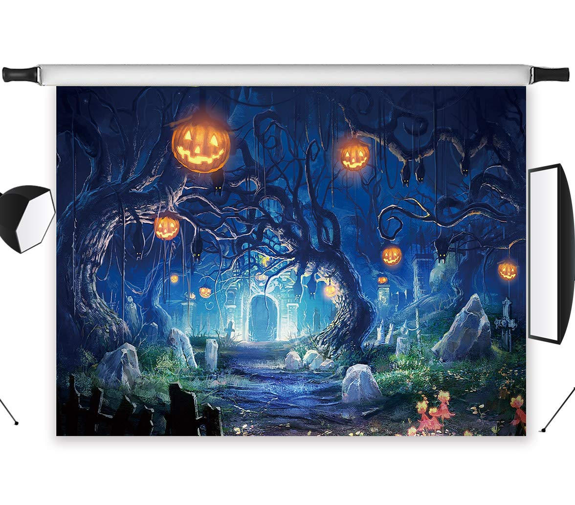 LB 10x8ft Halloween Party Backdrop for Photography Hallowmas Photo Background Custom Vinyl Studio Prop WSJ324 by LB