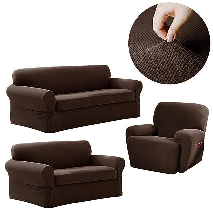 Marvelous Amazon Com Maytex Pixel Stretch Furniture Slipcover Set 2 Download Free Architecture Designs Salvmadebymaigaardcom
