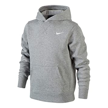 finest selection 40eb7 46c0f Nike Brushed Sweat-shirt à capuche Garçon , Gris Dk Grey Heather Blanc-