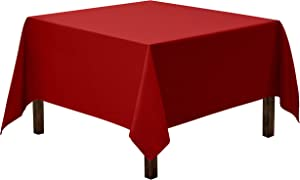 Gee Di Moda Square Tablecloth - 70 x 70 Inch - Red Square Table Cloth for Square or Round Tables in Washable Polyester - Great for Buffet Table, Parties, Holiday Dinner, Wedding & More