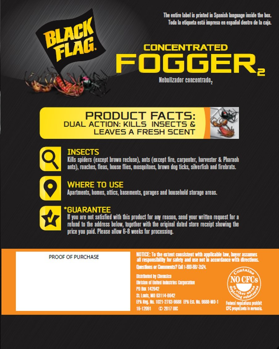 Black Flag Concentrated Fogger, 6/1.25-Ounce, 4-Pack by Black Flag (Image #4)