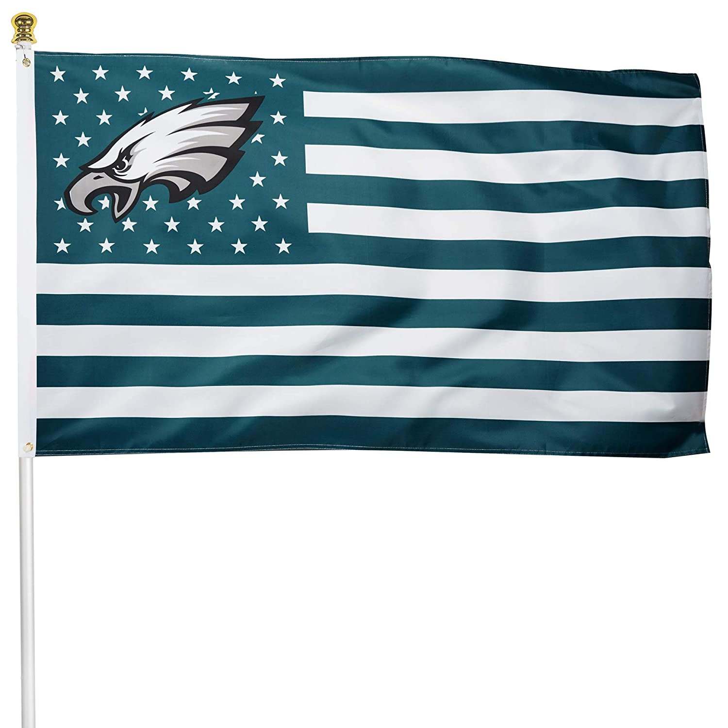 Tanxii Fans Premium Flag for Philadelphia Football Team 150D Thick Quality Polyester 3x5 FT Poster USA Stars and Stripes Sports Banner