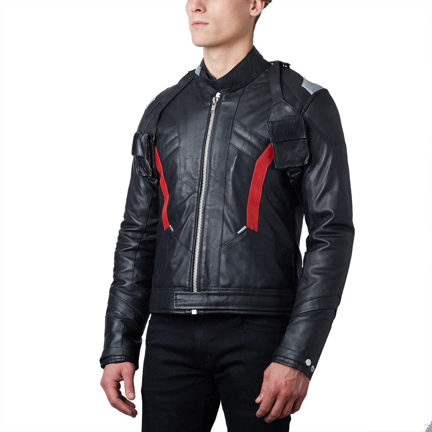 Mens Soldier 76 Black Leather Jacket