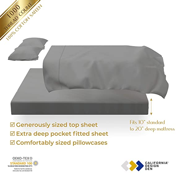 Outstanding Premium 1000 Thread Count 100 Cotton Sheets On Amazon 4 Ncnpc Chair Design For Home Ncnpcorg