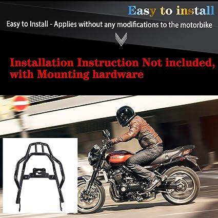 Motocicleta Portaequipajes trasero Acero Extender Bolsa de carga Caja Caja Soporte para 2018 Kawasaki Z900RS Z 900 RS ABS/Cafe ABS