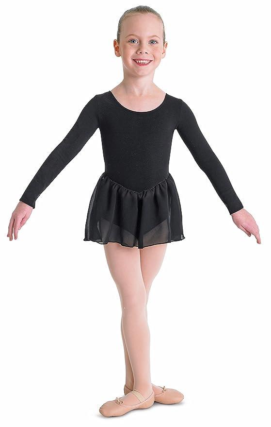 Bloch Pétale justaucorps à manches longues avec jupe en mousseline de soie   Amazon.fr  Sports et Loisirs 7aaf6a0f852