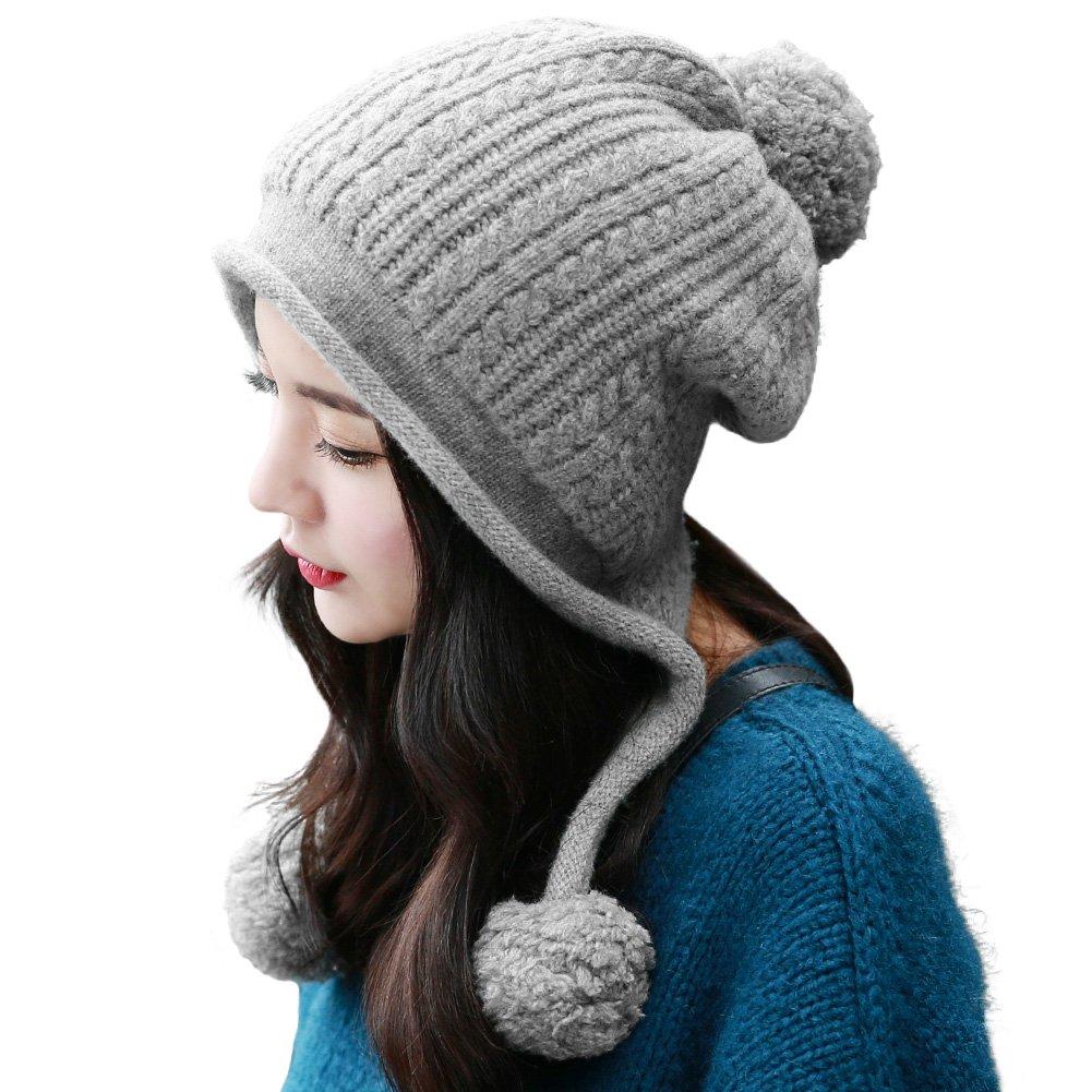 Details about SIGGI Wool Peruvian Beanie Earflap Hat Fleece Lined Womens Winter  Snow Ski Hat 9c16ebb4fcd