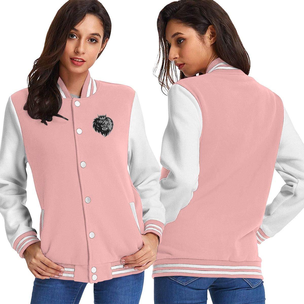 Pink Women Basketballsadw HockeyManchesterMonarchsLogo Baseball Uniform Jacket