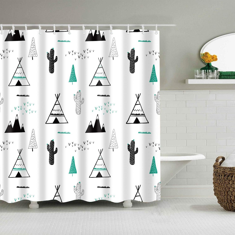 Gothic #90 Cortinas de baño a Prueba de agua-cortinas-3d-flores-impresión-durabilidad-para-baño-alta Calidad-poliéster-bañera-mampara-hogar (18): Amazon.es: Hogar