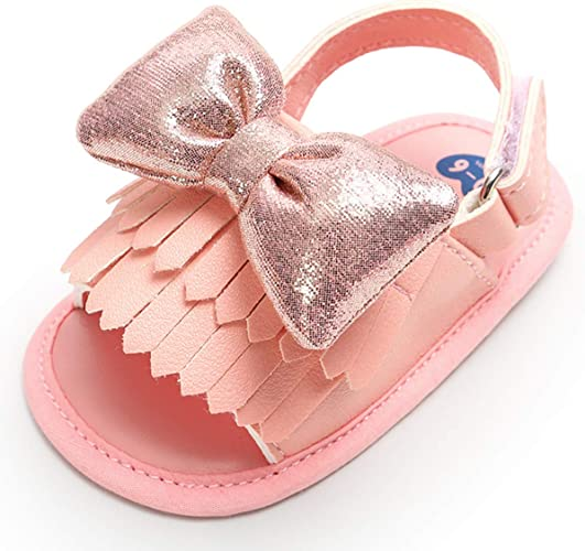 Summer Newborn Infant Baby Kids Soft Crib Shoes Pu Leather Casual Sandals