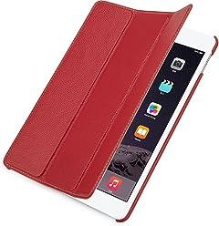 StilGut Couverture Case, custodia in pelle per Apple iPad Air 2, rosso