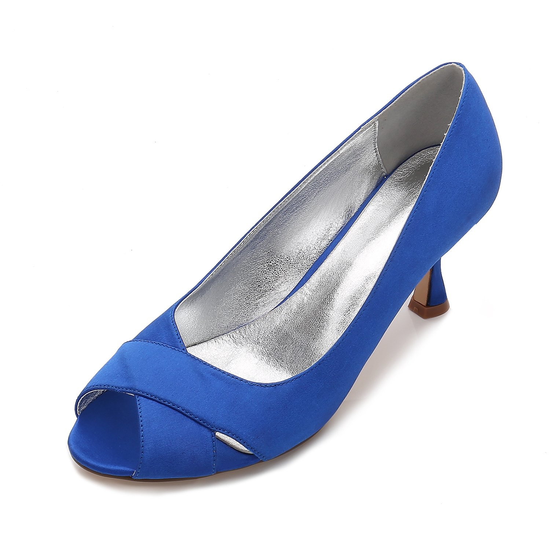 Qingchunhuangtang@ Hochzeit Party Schuhe Fisch Mund Schuhe Schuhe Schuhe Groß Schuhe Satin High Heels tägliche Arbeit 01a9ff