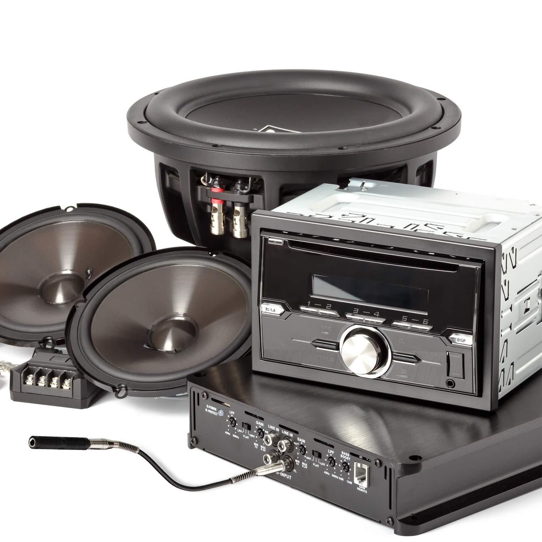 TS Hembra a Acoplador Hembra y 1 Pieza 6.35mm Mono Macho a Macho Jack Adaptador Est/éreo para la Guitarra de Altavoz Amplificador 5 Pack 1//4 Inch TRS
