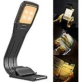 [最新改良版]LEDブックライト 読書灯 クリップ式 usb充電式 暖かい光 4段階調光 長時間 PC作業ライト kindle&pc専用 小型ライト 折りたたみ式ライト 譜面台ライト