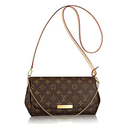 f65e00705fff Amazon.com: Louis Vuitton Favorite MM Monogram Canvas Cluth Bag Handbag  Article: M40718 Made in France: Sports & Outdoors