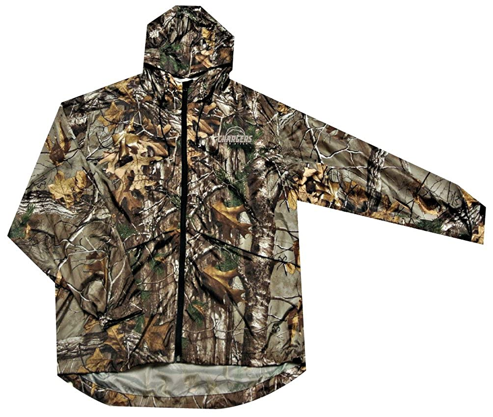 new arrival 69124 278c6 NFL San Diego Chargers Sportsman Windbreaker Jacket, Real Tree Camouflage,  4X