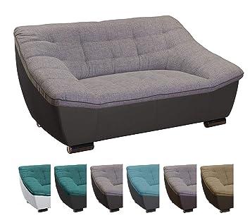 Cavadore Couch Mit Materialmixgemütliches Sofa Im Modernen Design
