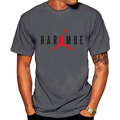 best authentic c9d79 ab902 Amazon.com  Men s Harambe X Jordan Tee Shirt Black  Clothing