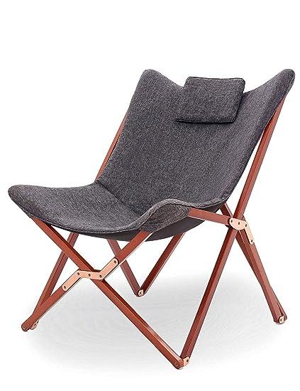 Suhu Chaise Longue Pliable Fauteuil Salon Relax Galette Chaises