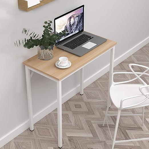 soges escritorios 80 x 40cm Mesa de Ordenador Compacto Resistente ...
