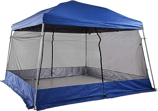Outsunny Carpas para Exterior Plegable para Jardín o Camping Cenador para Exterior con Mosquitera 360x360x260cm Azul: Amazon.es: Jardín