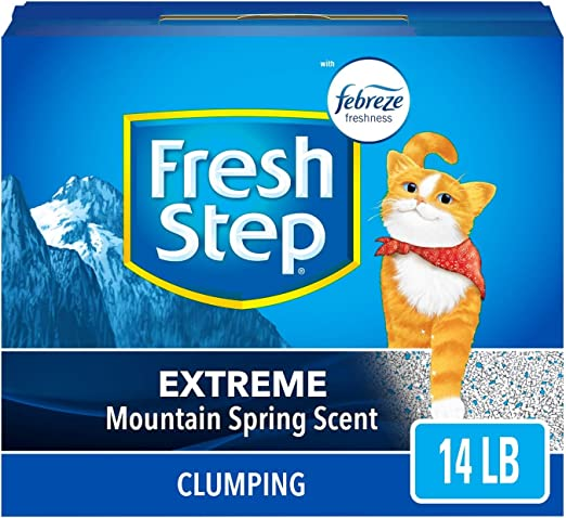 Fresh Step Extreme Arena perfumada con el Poder de Febreze, Arena ...