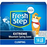 Fresh Step extreme scented litter with the power of febreze, clumping cat litter, 14 Pound