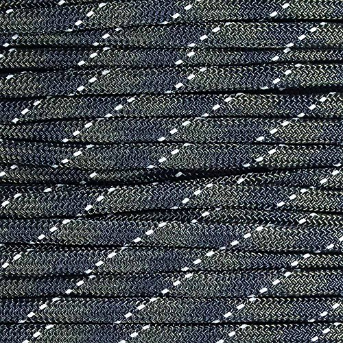 Paracord Planet Reflective Paracord Made of 100% Nylon With 7 Inner core Strands Available In 10, 25, 50, and 100 Foot Lengths That is Made in the USA