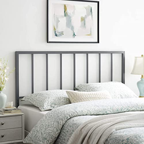 Modway Tatum Modern Farmhouse Metal Queen Headboard
