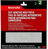 3M 932 Bondo Self Adhesive Body Patch, Stage 2, For Large Rust-Outs and Damaged Areas, 2 Patches, 5.9 in x 5.8 in