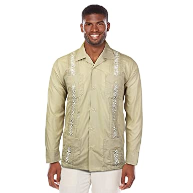 Maximos Usa Guayabera Men S Cuban Beach Wedding Long Sleeve Button