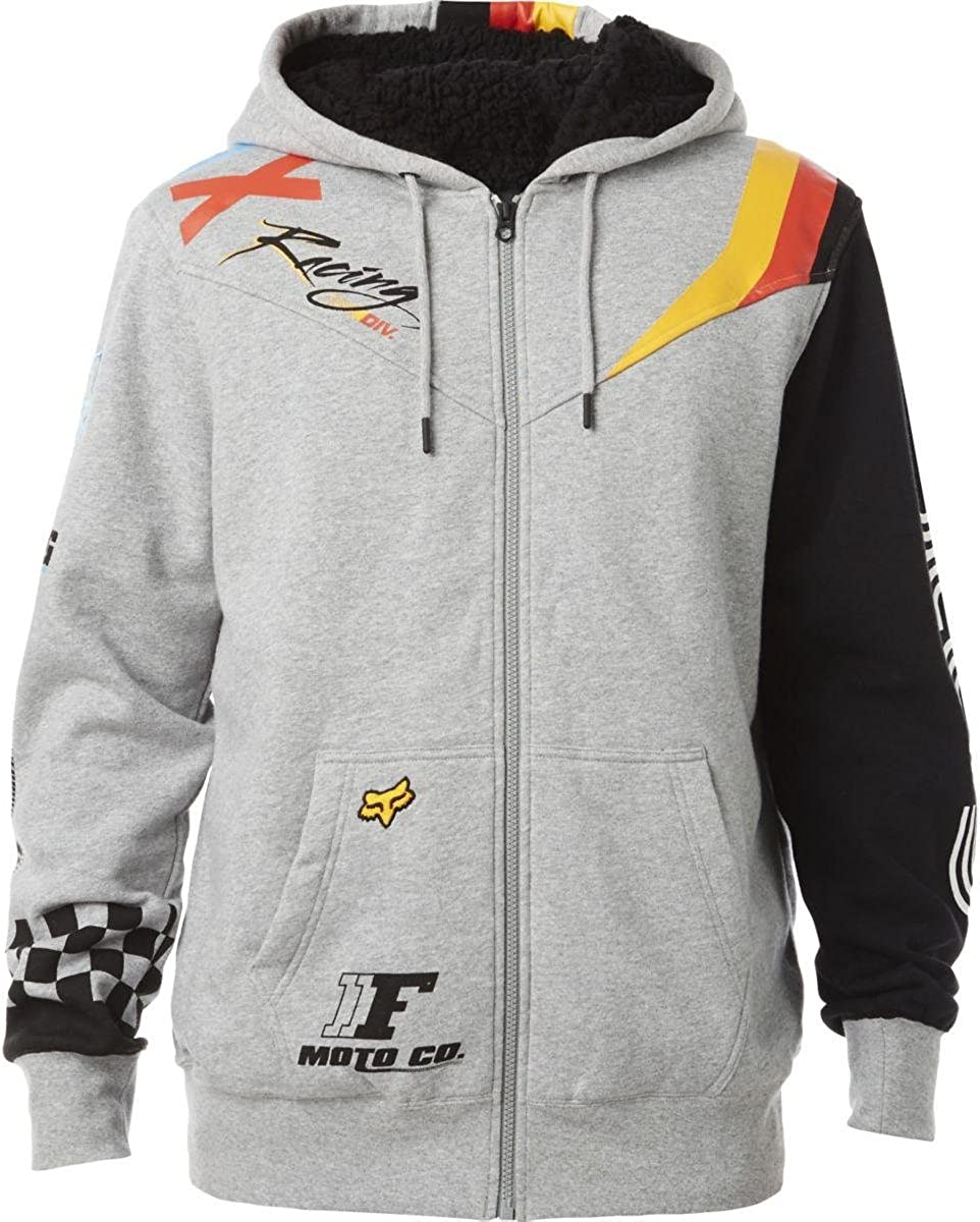 Fox Racing Mens Legacy Fox Head Pullover Fleece Hoodie Sand//Black