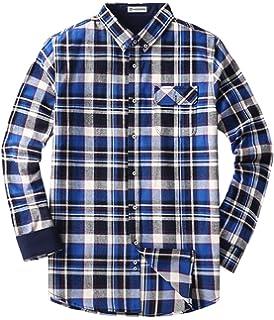 Mocotono Herren Langarm Kariertes Hemd Baumwolle Flanell Hemd mit Super  Qualität 5e59fcaff0
