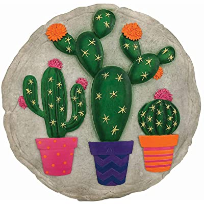 Spoontiques 13245 Cactus Stepping Stone, Multicolor : Garden & Outdoor