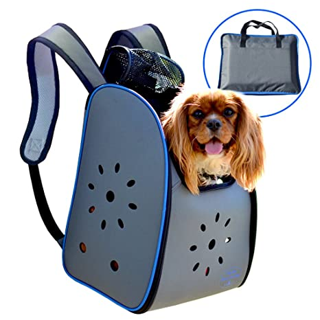 8854d36883 MyDeal Pop Up Pet Carrier Backpack Bag with Weather Resistant Oxford  Material, Vented Sides and