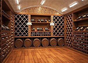 Leowefowa 9X6FT Wine Cellar Backdrop Luxurious European Vintry Backdrops for Photography Retro Wood Floor Vinyl Photo Background Lover Bride Wedding Studio Props