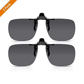 Read Optics (x2 Pack Clip-On Sunglasses: Gafa de Sol con Flip-Up para Gafas Graduadas de Hombre y Mujer. Lentes Polarizadas UV400 Protección 100% UV - ...