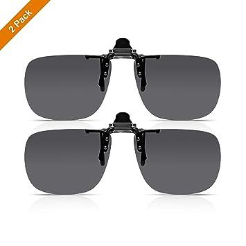 Read Optics (x2 Pack Clip-On Sunglasses: Gafa de Sol con Flip-Up para Gafas Graduadas de Hombre y Mujer. Lentes Polarizadas UV400 Protección 100% UV - ...
